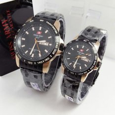 Swiss Army Couple - Jam Tangan Couple - Stainless Steel - SA 2117 BG Couple