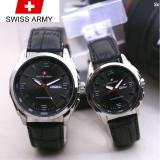 Diskon Swiss Army Couple Jam Tangan Pasangan Tali Kulit Indonesia