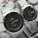 Beli Swiss Army Couple Ory Fitur Tanggal Hari Aktif Stainless Steel Silver Sa1570Ad Silver Couple Cicilan