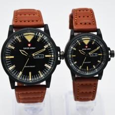 Beli Swiss Army Couple Sa 1650 Jam Tangan Kasual Couple Leather Strap Black Cicilan