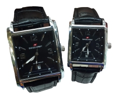 Swiss Army Couple Segi Jam Tangan Couple Strap Kulit Hitam Sa3223Bg Swiss Army Diskon