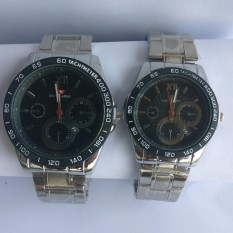 Toko Jual Swiss Army Couple Stainless Steel Black Sa1570 Silver Black Couple