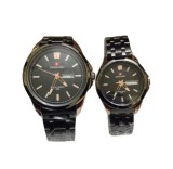 Diskon Swiss Army Couple Stainless Steel Hitam Gold Sa 1676 Bg