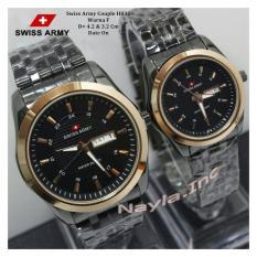 Toko Swiss Army Couple Stainless Steel Jam Tangan Pria Dan Wanita Sa832Ny Gold Black Lengkap
