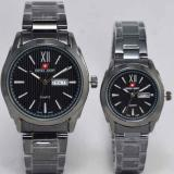 Jual Swiss Army Couple Stainless Steel Sa 425623 Branded Original
