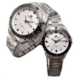 Harga Swiss Army Couple Stainless Steel Silver Putih Sa 1470 Sw Couple Termahal