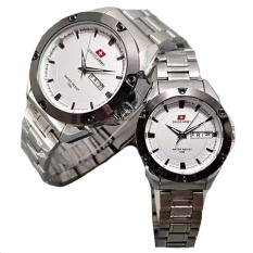 Review Toko Swiss Army Couple Stainless Steel Silver Putih Sa 1470 Sw Couple
