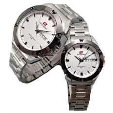Jual Swiss Army Couple Stainless Steel Silver Putih Sa 1470 Sw Couple Termurah