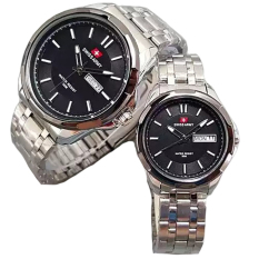 Jual Swiss Army Couple Stainless Steel Silver Sa 1575 Sb Grosir