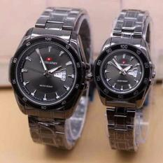 Jual Swiss Army Couple Watch Sa5245Ml Stainlesstell Silver White Swiss Army Murah
