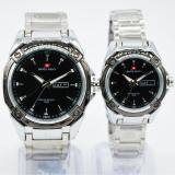 Toko Swiss Army Couple Watch Silver Black Stainless Swiss Army Sa 5249Ml Lengkap