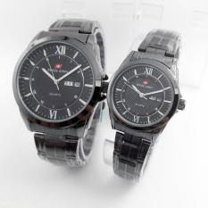 Review Swiss Army Couple Watch Silver Black Stainless Swiss Army Sa 5231