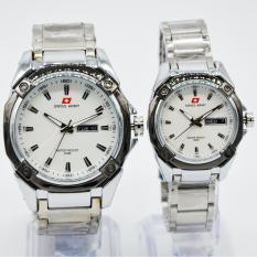 Harga Swiss Army Couple Watch Silver White Stainless Swiss Army Sa 5249Ml Di Dki Jakarta