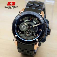 Jual Swiss Army Crono Time Jam Tangan Pria Stainless Steel Sa H 8777 Black Dki Jakarta