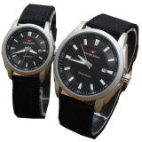 Jual Swiss Army Date Jam Tangan Couple Strap Canvas Sa 5096 Hitam Swiss Army Branded