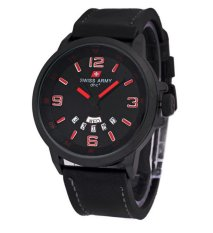 Swiss Army DHC - Jam Tangan Pria - Leatehr Strap - SA1128BR