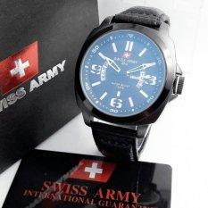 Swiss Army *DHC SA1208 - Jam Tangan Fashion Pria - Leather Strap - Analog Quartz