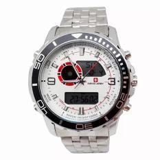 Ulasan Swiss Army Digital Combo Jam Tangan Pria Silver Stainless Dial Putih Sa 1521 Ss