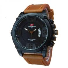 Promo Swiss Army Dual Time Jam Tangan Pria Leather Strap Sa 1694 Dbb Swiss Army