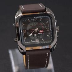 Spesifikasi Swiss Army Dual Time Jam Tangan Pria Leather Strap Sa 84 Hj Swiss Army