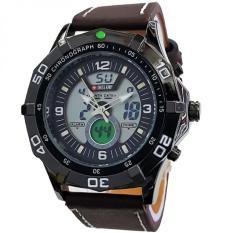 Toko Swiss Army Dual Time Jam Tangan Pria Letaher Strap Coklat Sa 83 Db Terdekat
