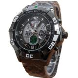 Jual Swiss Army Dual Time Jam Tangan Pria Sa 3311M Black Stainless Steel Original