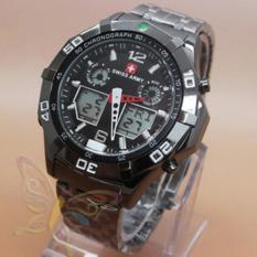 Spesifikasi Swiss Army Dual Time Jam Tangan Pria Sa 876K81 Stainless Steel Merk Swiss Army
