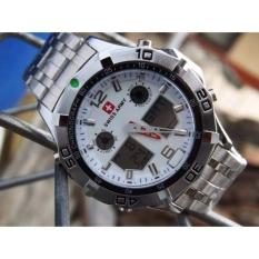 Harga Swiss Army Dual Time Jam Tangan Pria Sa09916 Stainless Steel Yang Bagus
