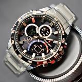 Harga Swiss Army Dual Time Jam Tangan Pria Sa399Ny Tali Rantai Yang Bagus