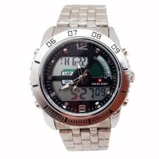 Swiss Army Dual Time Jam Tangan Pria - Stainless Steel -Sa 1289 Silver WhiteIDR330000.