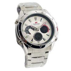 Daftar Harga Swiss Army Dual Time Jam Tangan Pria Staunless Steel Sa 1035 Silver White Swiss Army
