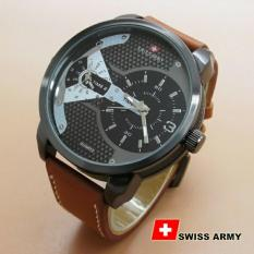 Toko Swiss Army Dual Time Jam Tangan Pria Strap Kulit Sa 6409 Online Di Jawa Barat