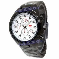 Spesifikasi Swiss Army Elegant Jam Tangan Pria Stainless Hitam Dial Putih Sa 8058 Yg Baik