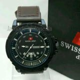 Harga Swiss Army Fashion Jam Tangan Pria Leather Strap Sa33Q2W Baru