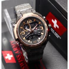 Toko Swiss Army Fashion Ory Fitur Dual Time Toko Grosir 2200M Jam Tangan Pria Stainlesstell Terbaru Termurah Dki Jakarta