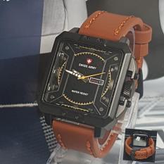 Harga Swiss Army Fashion Jam Tangan Pria Toko Grosir 1200 Fitur Tanggal Hari Aktif Tali Kulit Terbaru Satu Set