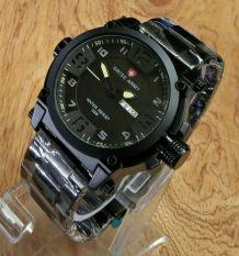 Jual Swiss Army H135D48Sa3517Mhtmlk Daydate Jam Tangan Pria Hitam Import
