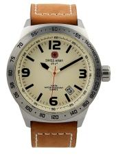 Swiss Army HCC  2870 BEG BRW -Jam tangan pria - Hitam - Kulit