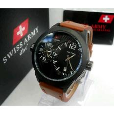 SWISS ARMY HCC-3068G DUALTIME OROGINAL LEATHER BROWN