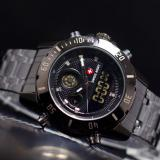 Harga Swiss Army Indigo Dual Time Jam Tangan Pria Strap Rantai Branded