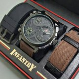 Review Swiss Army Infantry Full Set Jam Tangan Pria Sa 7566 Cokelat Tua