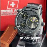 Miliki Segera Swiss Army Jam Tangan Casual Pria Stainless Steel Sa 5133 Full Set