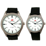 Jual Swiss Army Jam Tangan Couple Canvas Hitam Plat Putih Sa 5093 B Swiss Army Grosir