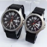 Swiss Army Jam Tangan Couple Canvas Strap Sa 5105 Sbw Original