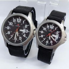 Harga Swiss Army Jam Tangan Couple Canvas Strap Sa 5105 Sbw