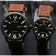 Beli Swiss Army Jam Tangan Couple Leather Strap Sa 1250 Seken