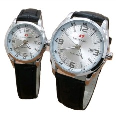 Jual Swiss Army Jam Tangan Couple Leather Strap Sa 152 White Dial Couple Grosir