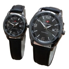 Promo Swiss Army Jam Tangan Couple Leather Strap Sa 1572 Fb Couple Akhir Tahun