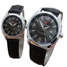 Beli Swiss Army Jam Tangan Couple Leather Strap Sa 1572B Black Dial Couple