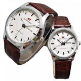 Jual Swiss Army Jam Tangan Couple Leather Strap Sa 1573 Art Silver Brown Swiss Army